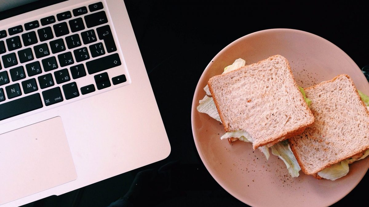 Lunch while working