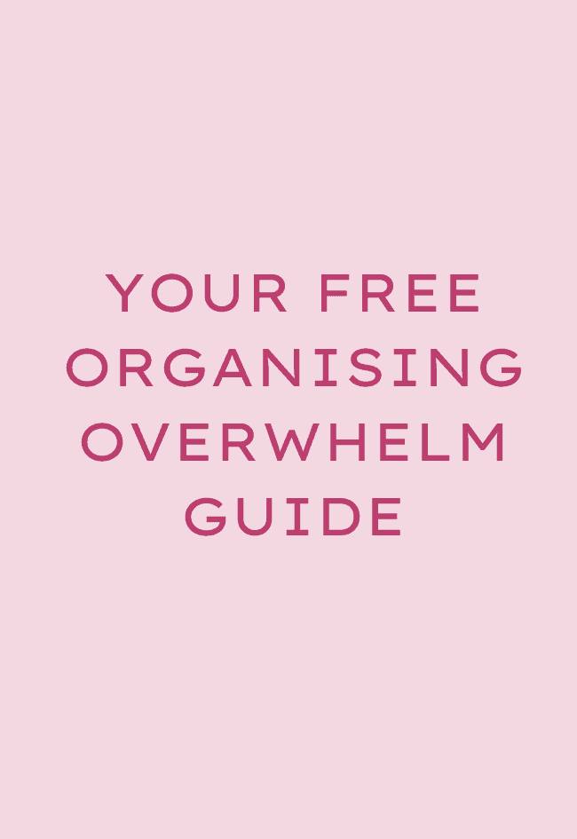 free organising overwhelm guide// $0